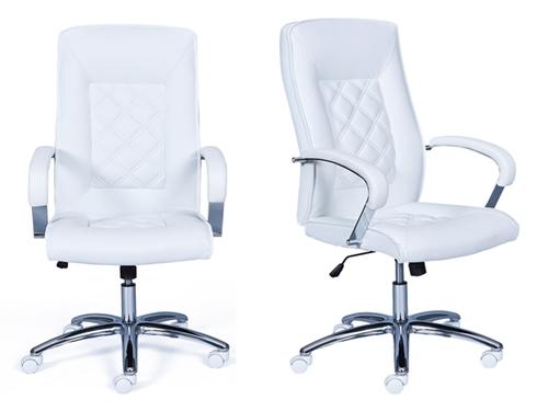 fehér bőr főnöki szék